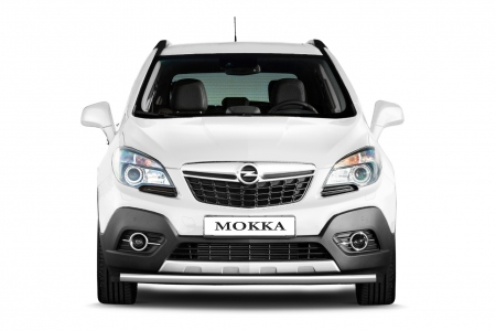 Защита переднего бампера одинарная d51мм Opel Mokka (нерж)